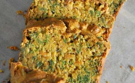 Cake aux fanes de carottes et tofu rosso