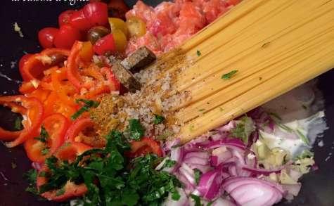 One pot pasta saumon thaï
