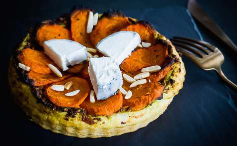 Tarte fine orientale aux carottes bio d'Alsace