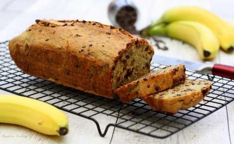 Banana bread aux noisettes et pépites de chocolat