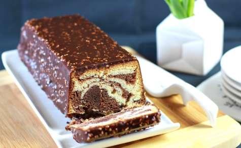 Cake marbré de François Perret, glacé façon Rocher