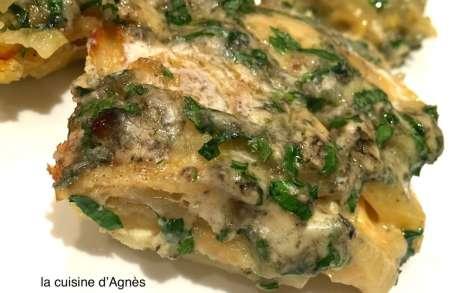 Tortilla de pommes de terre persillées au bleu d'Auvergne