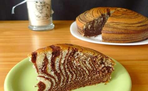 Zebra cake au chocolat et à l'orange (en images)