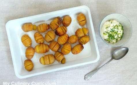 Pommes de terre grenailles hasselback