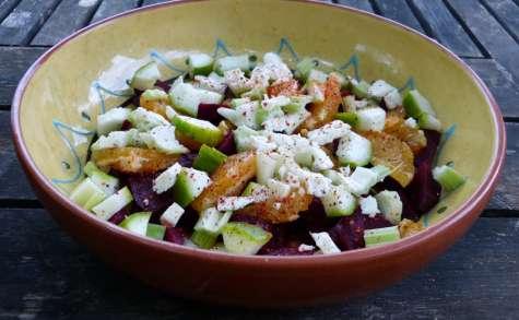 Salade de betterave aux oranges et à la feta