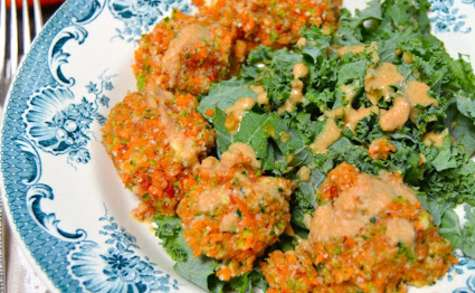 Boulettes crues de carottes et courgette au cumin
