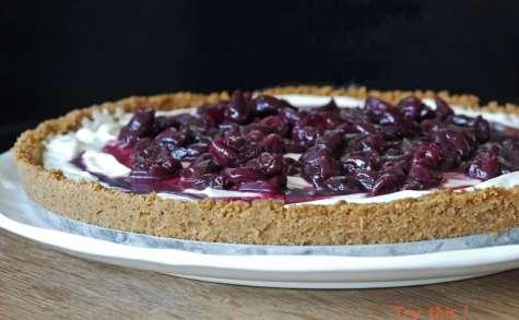 Tarte aux cerises façon cheesecake