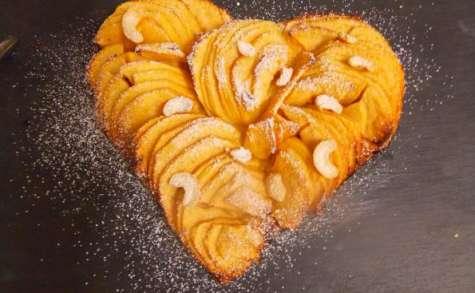 Tarte aux pommes au lemon curd et noix de cajou