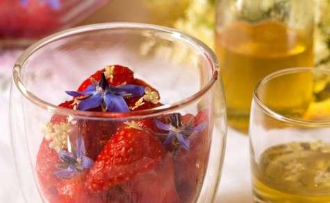 Salade de fraises au sirop de sureau