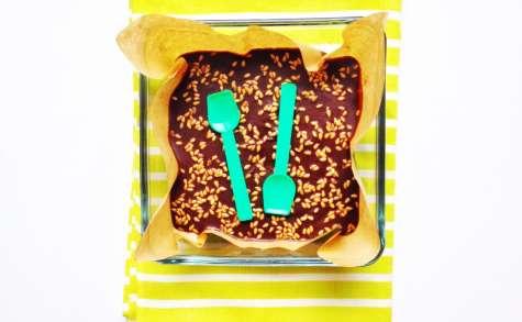 Ultra fondant chocolat-marrons aux graines de lin