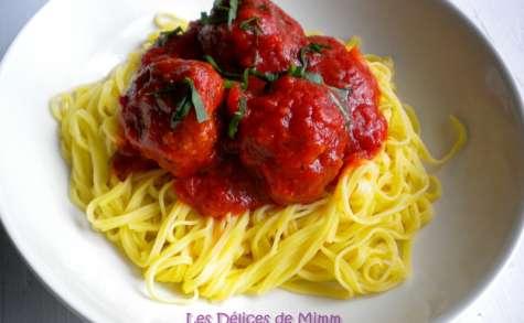 Polpette ou boulettes de viande au parmesan