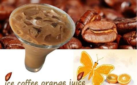 Café glacé à l'orange