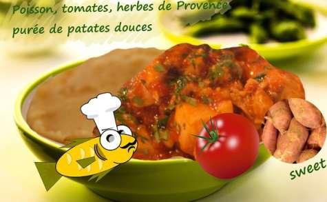 Poisson sauce tomate provençale garni de patates douces