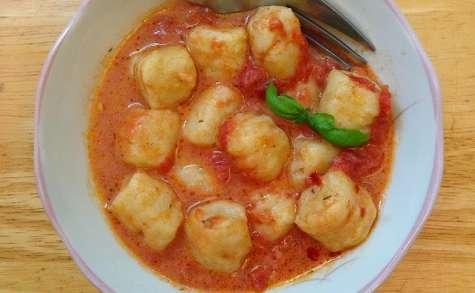 Gnocchis de pommes de terre au poulet et parmesan