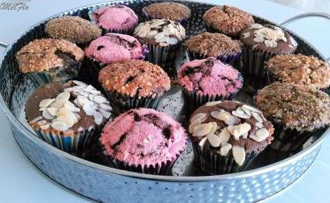 Muffins choco et vanille et muffins choco et fève de tonka