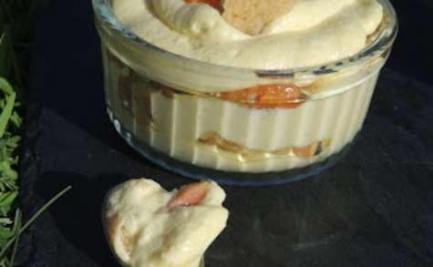 Tiramisu abricot rhubarbe