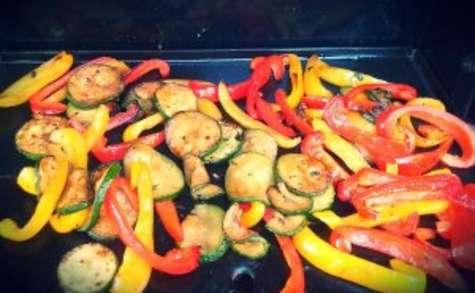 Légumes du soleil marinés et cuits à la plancha