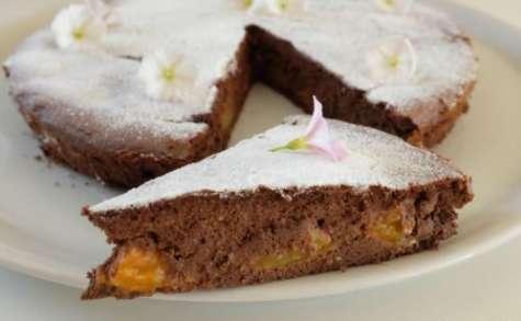Fondant au chocolat, abricots et ricotta sans gluten