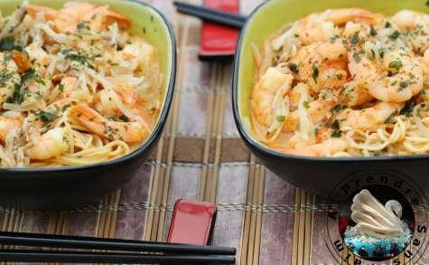 Soupe Laksa Singapour aux crevettes