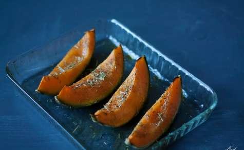 Melon rôti au miel et au romarin avec son jambon cru
