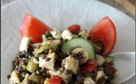 Salade de lentilles arlequin