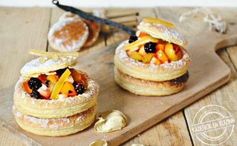Dessert feuilleté aux fruits et citron confit