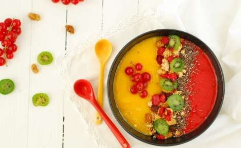 Smoothie bowl mangue framboise bicolore