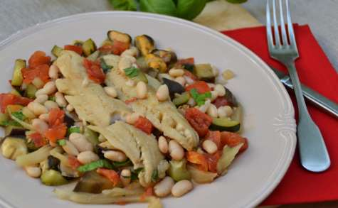 Merlan et légumes d'été
