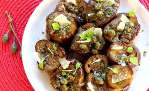 Aubergines à la vinaigrette italienne