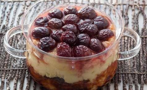 Gâteau de semoule aux prunes