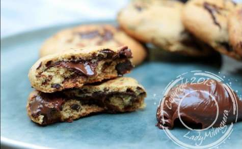 Cookies coeur coulant chocolat-noisettes