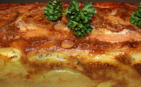 Cake de pommes de terre aux cèpes