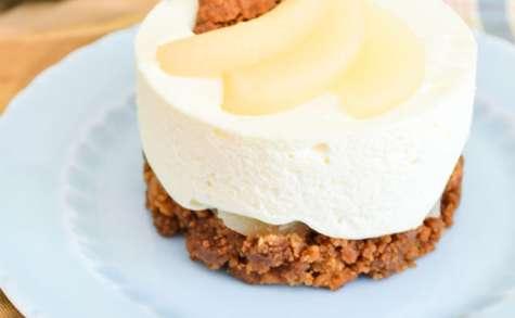 Mini cheesecake poires et spéculoos