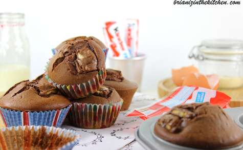 Muffins chocolat et Kinder maxi