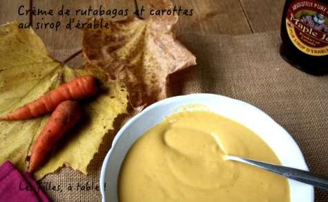 Crème de rutabagas et carottes au sirop d'érable