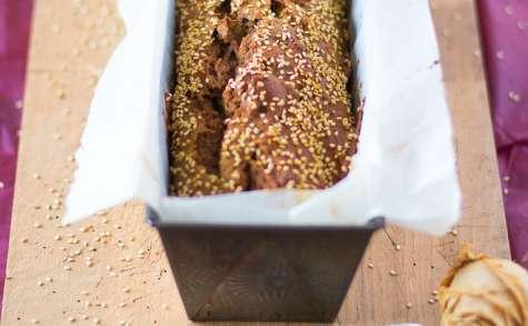 Banana bread de l'écureuil aux noix, noisettes et sésame