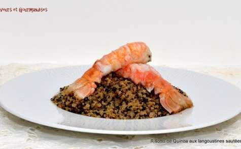 Langoustines sautées sur lit de quinoa noir et blanc façon risotto