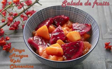 Salade de fruits jolie Pitaya et mangue