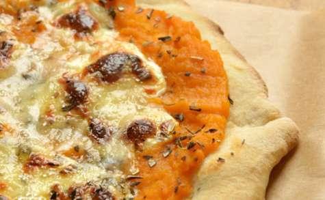 Pizza potiron et bleu d'Auvergne