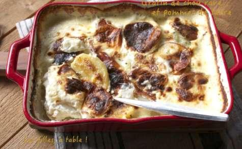 Gratin de chou-rave, pommes de terre et scarmoza fumée