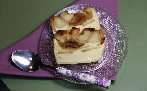 Crème aux oeufs aux pommes et confiture de lait