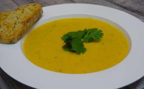 Soupe de carottes, lait de coco et cumin