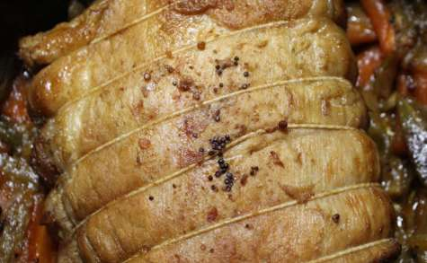 Rôti de porc lentement cuit à la danoise