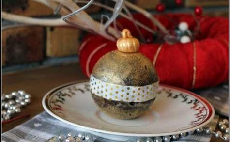 Fondant au chocolat façon boule de Noël
