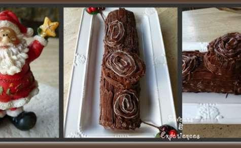La Bûche de Noël Chocolat Marron sans Beurre