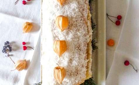 Bûche de Noël kiwi mandarine coco