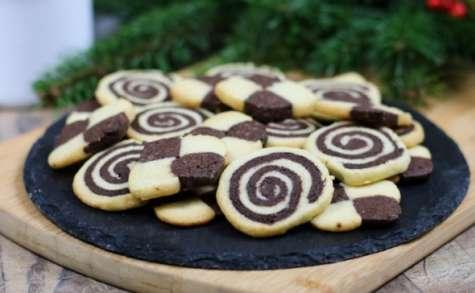 Biscuits damiers spirales ou marbrés - Bredele d'Alsace