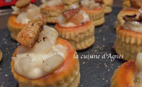 bouchées de topinambours au foie gras