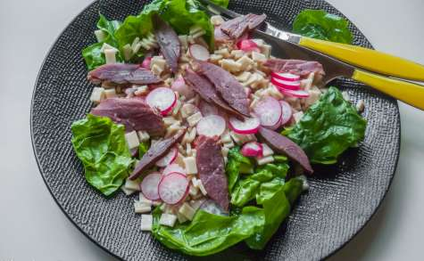 Salade de crozets au magret fumé