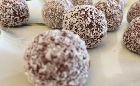Truffes chocolat noix de coco